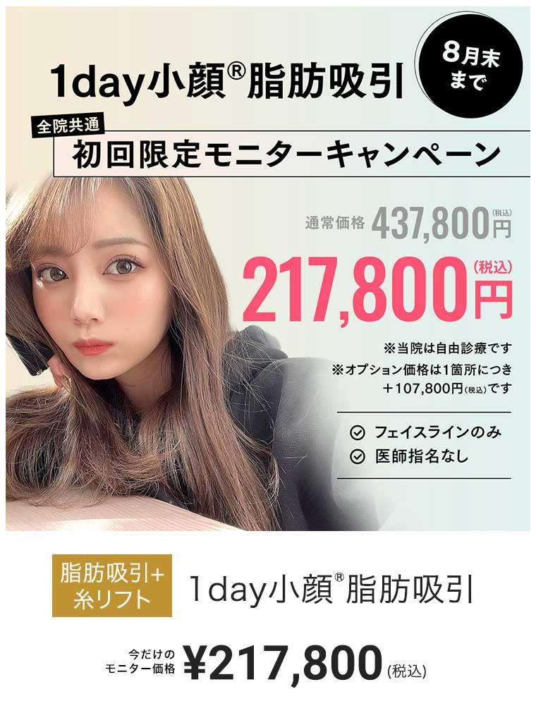 1day小顔脂肪吸引 ¥327,800